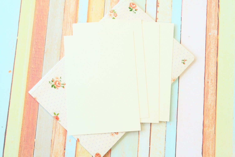 Vanilla Ivory Craft Style blank postcards