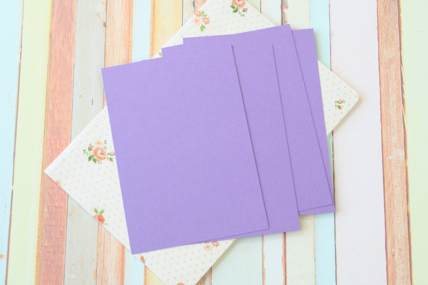 Orchid Purple Craft Style blank postcards