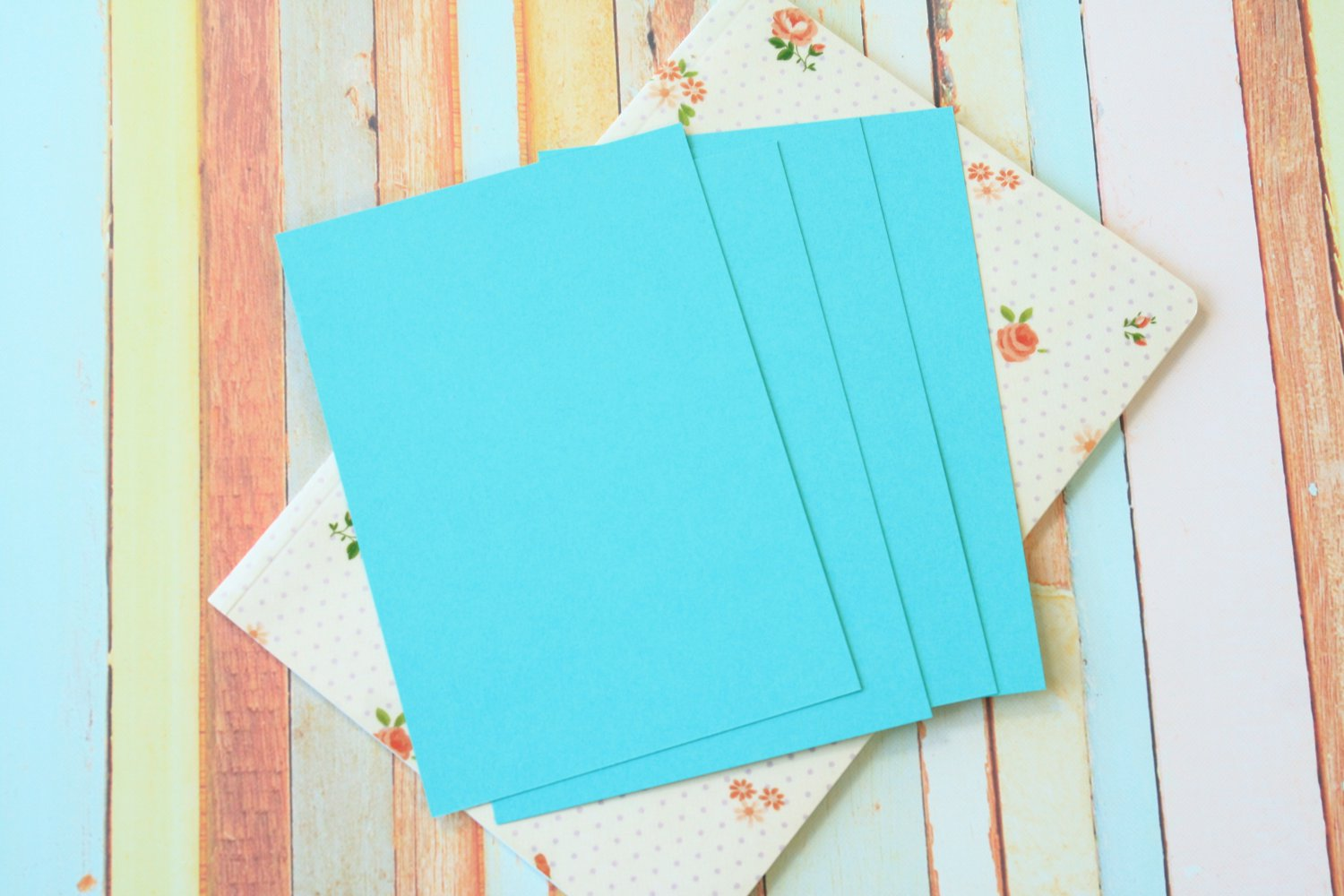 Seagrass Aqua Craft Style blank postcards