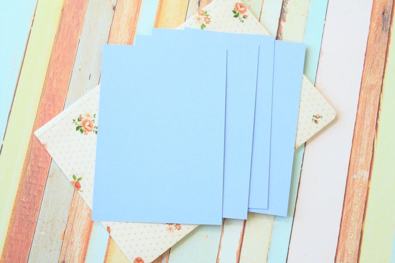 Marine Blue Craft Style blank postcards
