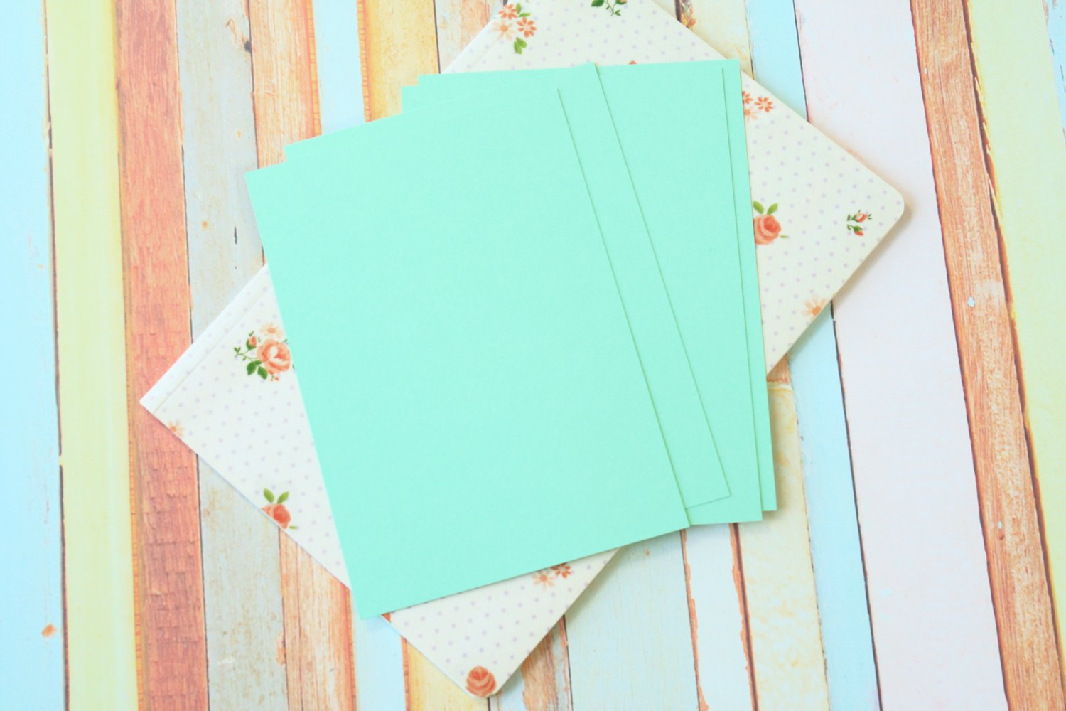 Jade Green Craft Style blank postcards