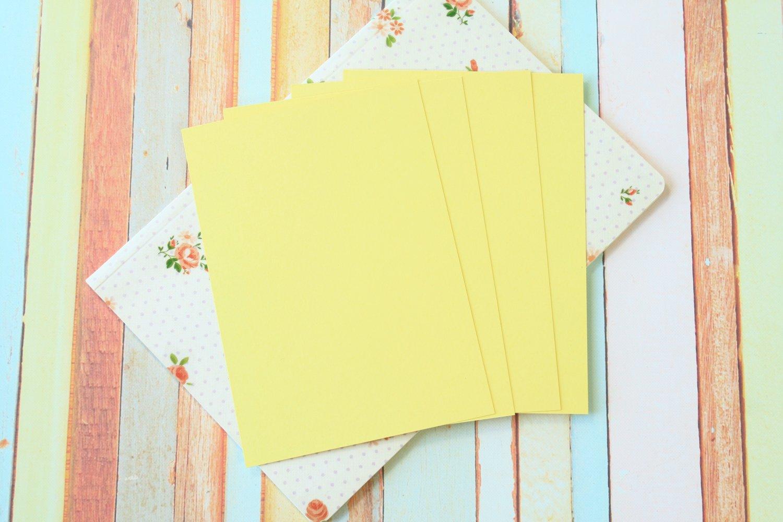 Sunlight Yellow Craft Style blank postcards
