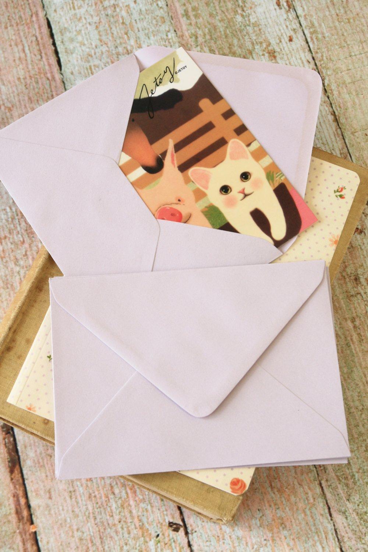 Lavender plain C6 banker envelopes
