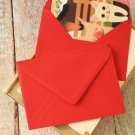 Scarlet Red plain C6 banker envelopes