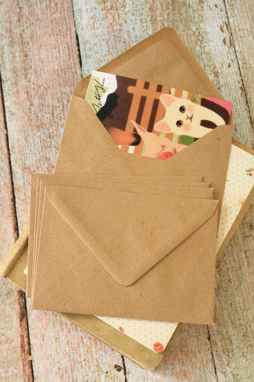 Ribbed Brown Kraft plain C6 banker envelopes