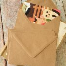 Ribbed Brown Kraft plain C6 banker envelopes