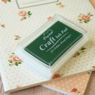 Deep Green Crystal Craft Ink Pad rubber stamp pad