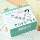 Flower & Smile Pappappiyo DIY Garden Girl stamps set