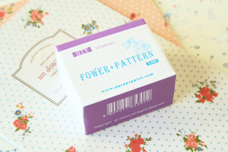 Flower Pattern Pappappiyo DIY stamps set