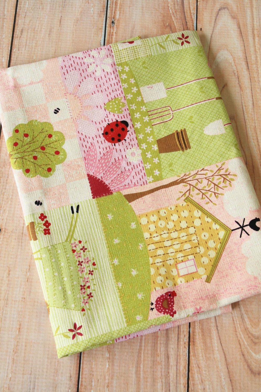 Sweet Sweet Home Cotton Linen blend fabric quarter