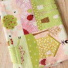 Sweet Sweet Home Cotton Linen blend fabric quarter