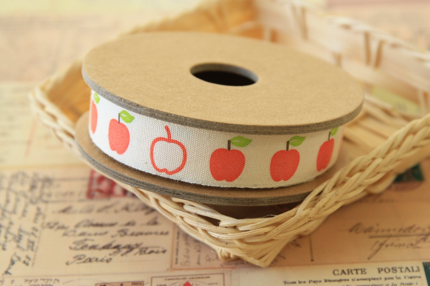 Apples cartoon cotton sewing tape ribbon