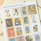 Europe Vintage Vol 1 cartoon stamp stickers