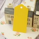 Yellow large scallop swing tags