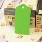 Lime Green large scallop swing tags