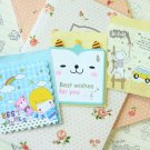 Set 01 Cute Mini Cartoon blank greeting cards