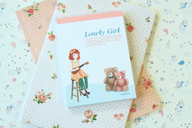 Bears Lonely Girl cartoon Memo notepad