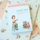 Bears Lonely Girl cartoon Memo notepad
