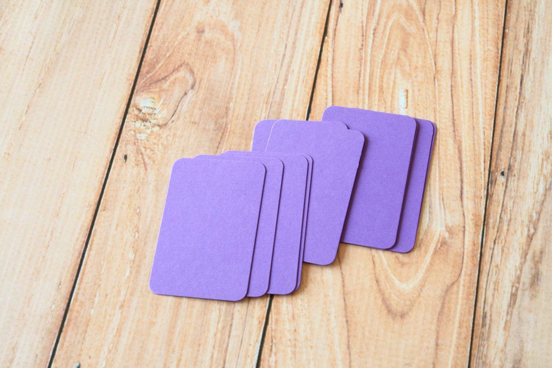 Amethyst Purple blank business cards