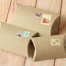 Ribbed Brown Kraft DIY Medium pillow boxes