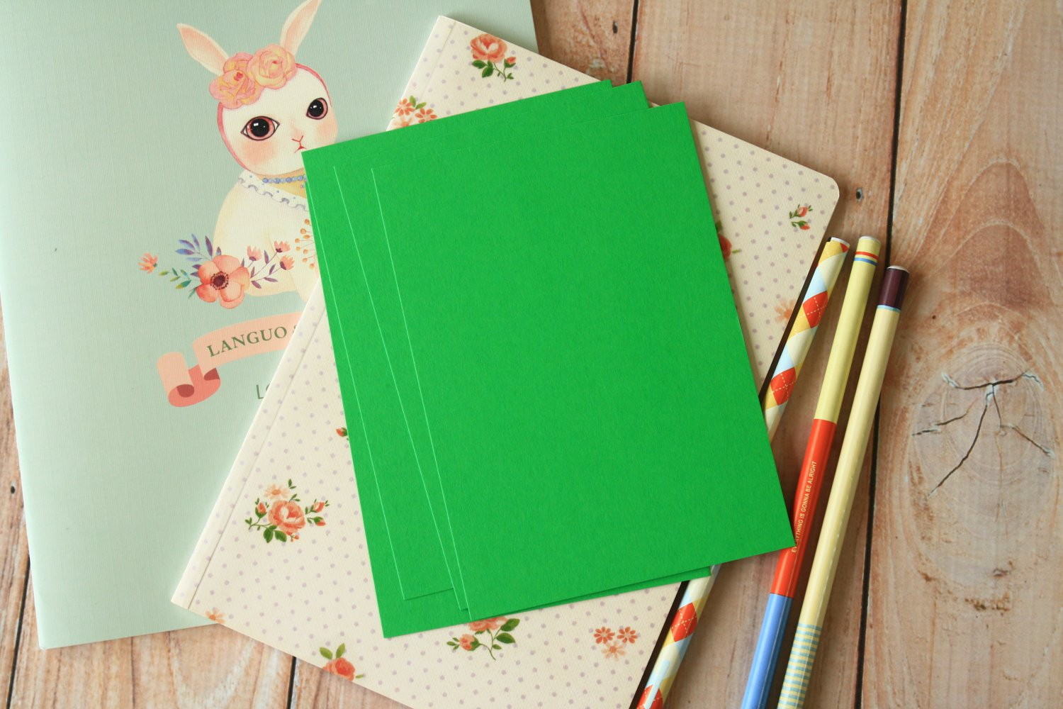 Spring Green postcard blanks