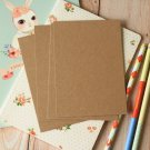 Plain Kraft Brown postcard blanks