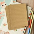 Rippled Kraft Brown postcard blanks