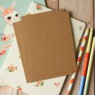 Textured Kraft Brown postcard blanks