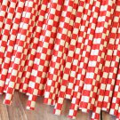 Red Checkers paper straws