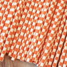 Orange Checkers paper straws