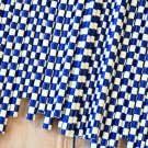 Navy Blue Checkers paper straws