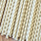 Grey Checkers paper straws