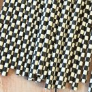 Black Checkers paper straws