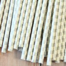 Metallic Silver Checkers paper straws