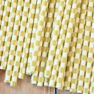 Metallic Gold Checkers paper straws