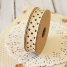 East of India Cream & Grey Polka Dots ribbon
