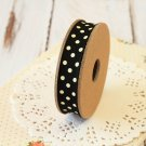 East of India Black & Cream Polka Dots ribbon