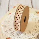 East of India Cream & Red Polka Dots ribbon