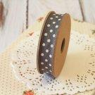 East of India Charcoal Grey & Cream Polka Dots ribbon