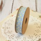East of India Blue & Cream Polka Dots ribbon