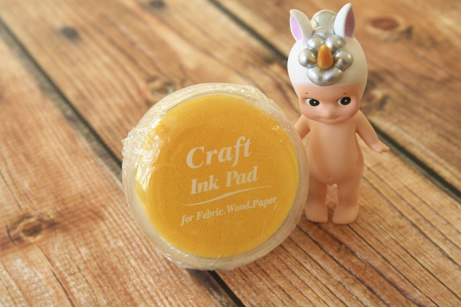 Yellow Crystal Craft Ink Pad Ver 02 rubber stamp pad