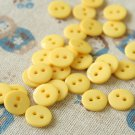 Yellow Mini Resin Candy Colour Buttons 20pc Set