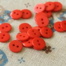 Scarlet Red Mini Resin Candy Colour Buttons 20pc Set