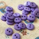 Violet Purple Mini Resin Candy Colour Buttons 20pc Set