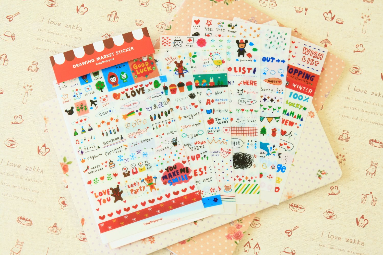 Drawing Market scrapbooking diary stickers