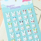Bunny Rabbit cartoon puffy stickers