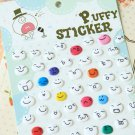 Circles cartoon puffy stickers