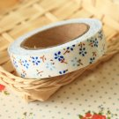 Petit Blue Garden Flowers deco fabric tape