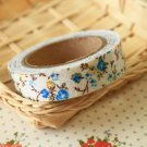 Little Blue Garden Flowers deco fabric tape