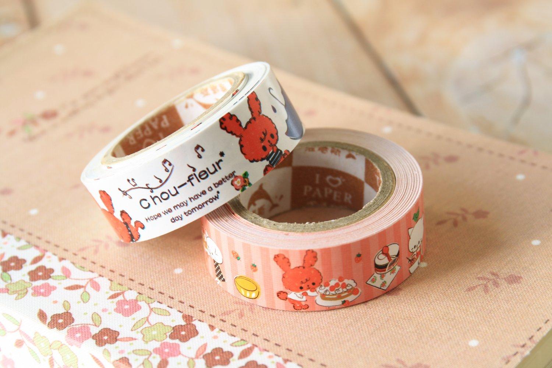Chou Fleur cute cartoon mini deco paper tape